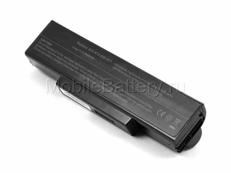Усиленный аккумулятор для ноутбука Asus A32-K72, A32-N71
