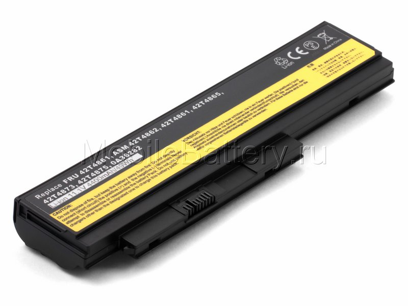 Аккумулятор Lenovo 42T4861, 42T4865, 42T4866, 42T4940 (4400mAh)