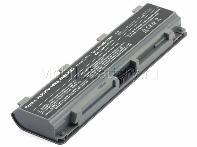 Аккумулятор для Toshiba PA5024U-1BRS, PA5027U-1BRS, PA5109U-1BRS
