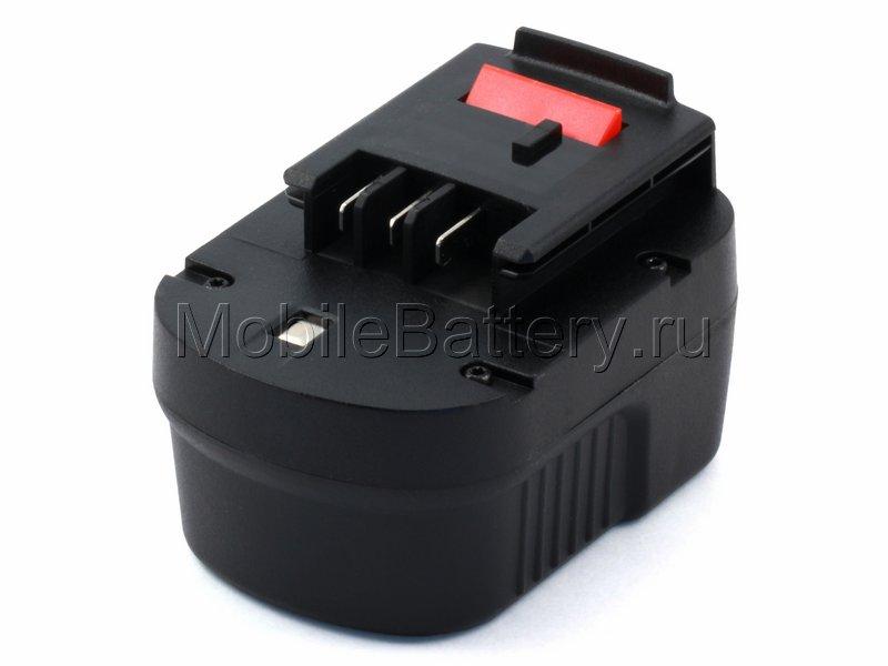 Усиленный аккумулятор для Black & Decker A12, FSB12, HPB12