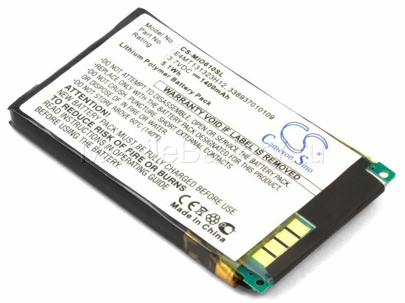 Аккумулятор для GPS-навигатора Mitac Mio H610 (E4MT131323H12)