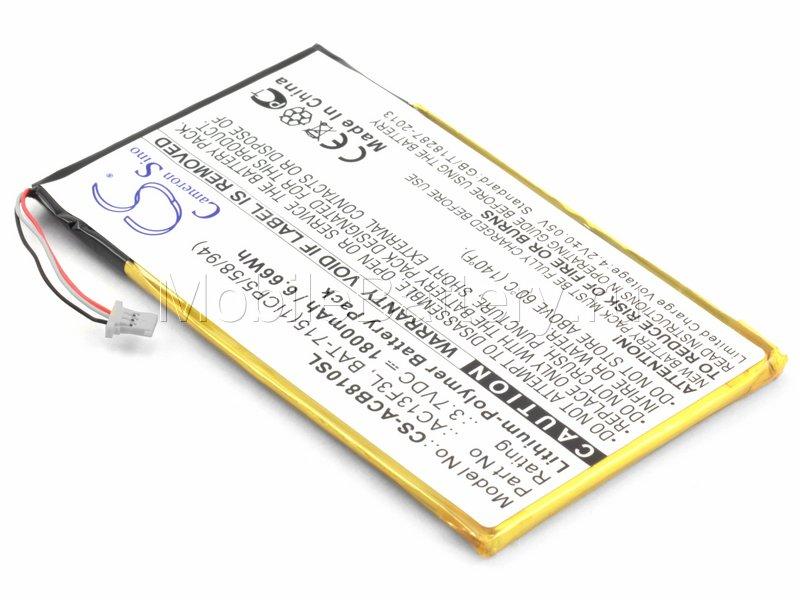 Аккумулятор для Acer Iconia Tab B1-A71 (BAT-715 1ICP5/58/94)