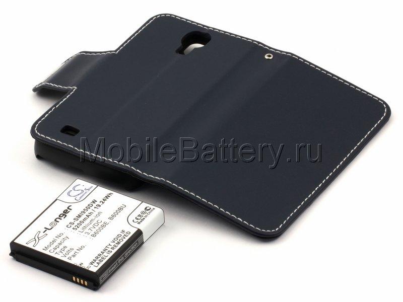 Усиленный аккумулятор для Samsung GT-i9500 Galaxy S4 (синий)