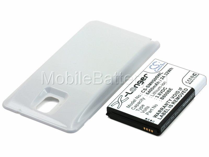 Усиленный аккумулятор для Samsung Galaxy Note 3 (белый)