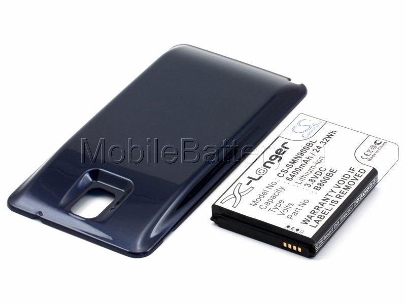 Усиленный аккумулятор для Samsung Galaxy Note 3 (синий)