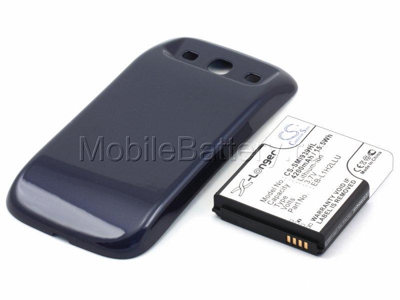 Усиленный аккумулятор для Samsung SCH-i939 Midas (синий)