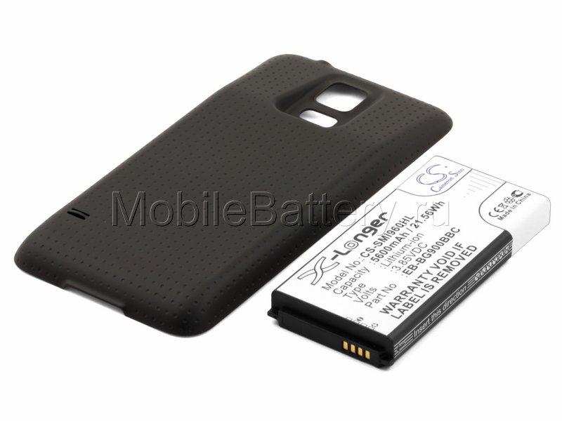 Усиленный аккумулятор для Samsung SM-G900F Galaxy S5, коричневый