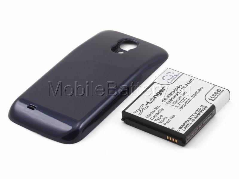 Усиленный аккумулятор для Samsung GT-i9505 Galaxy S4 (синий)