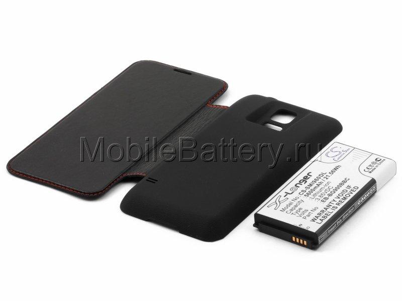 Усиленный аккумулятор для Samsung SM-G900H Galaxy S5, черный