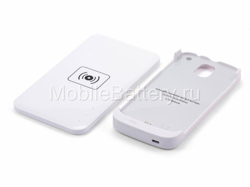 Чехол-аккумулятор с беспроводной зарядкой для Samsung Galaxy S4