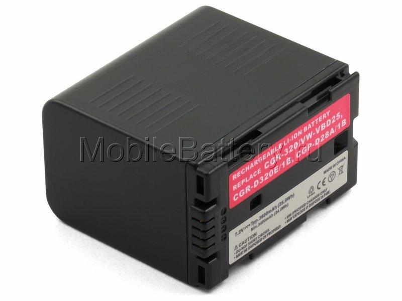 Усиленный аккумулятор для Panasonic CGR-D28S, CGR-D320, LIP-320