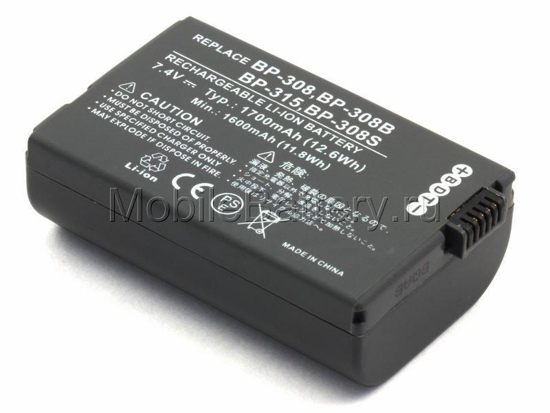 Усиленный аккумулятор для видеокамеры Canon BP-214, BP-315