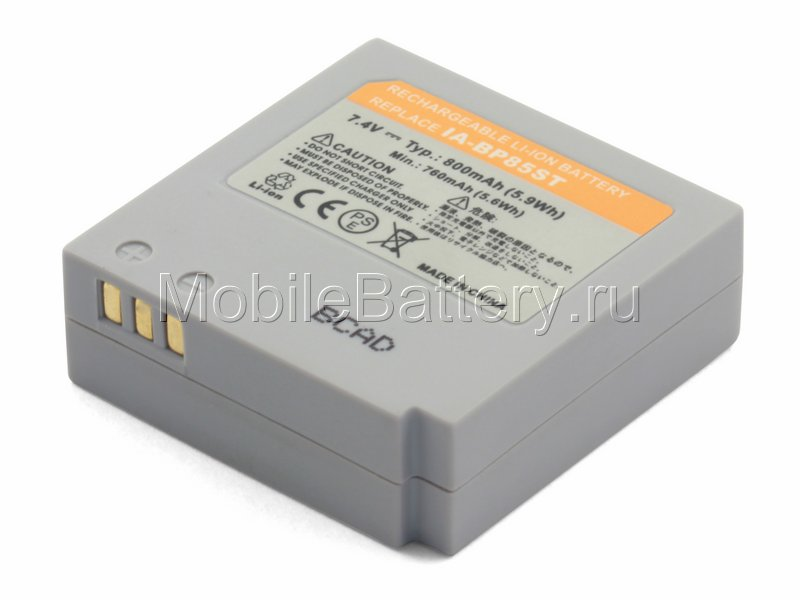 Аккумулятор для видеокамеры Samsung IA-BP85NF, IA-BP85ST