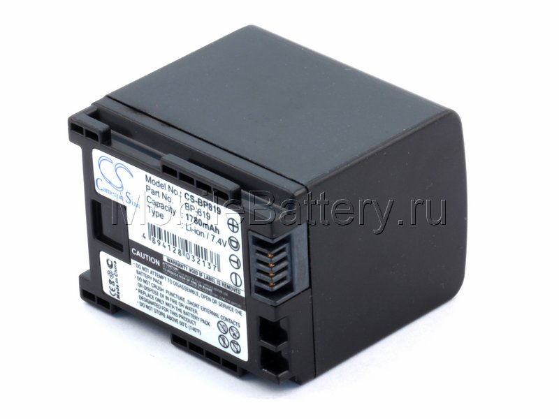 Усиленный аккумулятор для Canon BP-809, BP-819 (1780mAh)