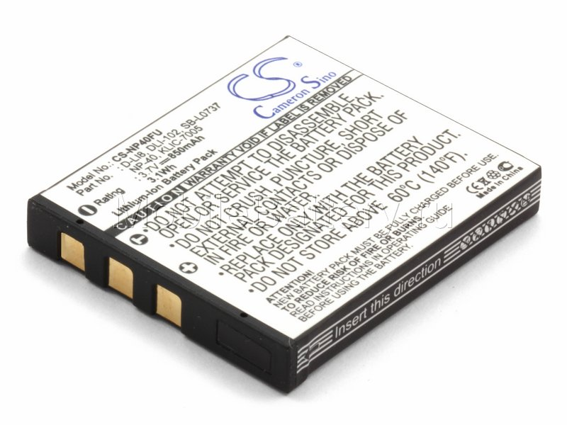Аккумулятор для фотоаппарата D-Li8, KLIC-7005, NP-40, SLB-0737