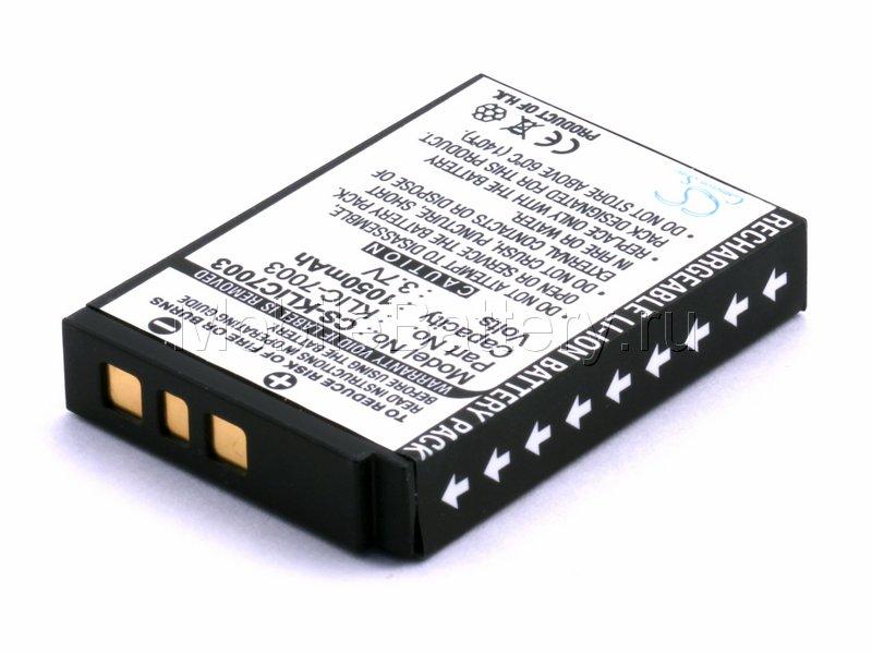 Аккумулятор для фотоаппарата GE GB40, Kodak KLIC-7003