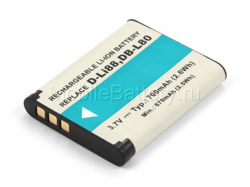 Аккумулятор для камеры D-Li88, DB-L80, PX1686, VW-VBX070