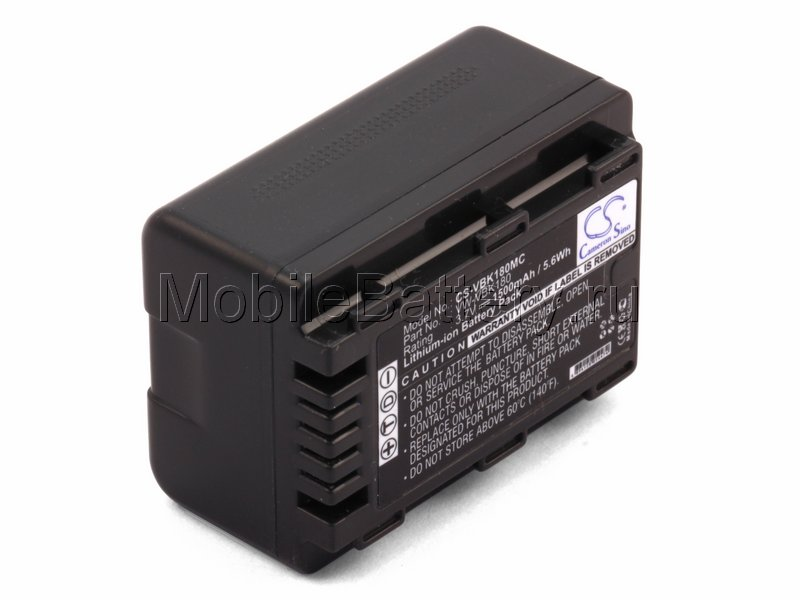 Усиленный аккумулятор для Panasonic VW-VBK180, VW-VBK180E-K