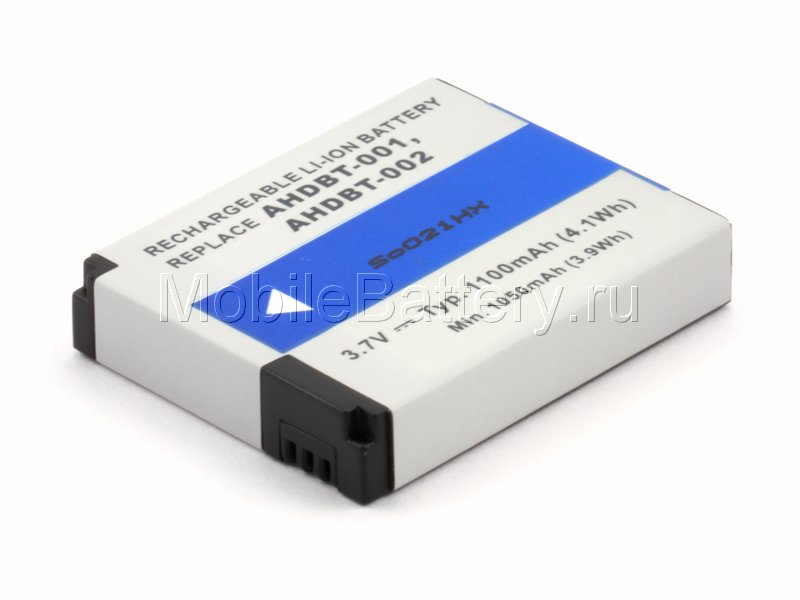 Аккумулятор для видеокамеры GoPro AHDBT-001, AHDBT-002