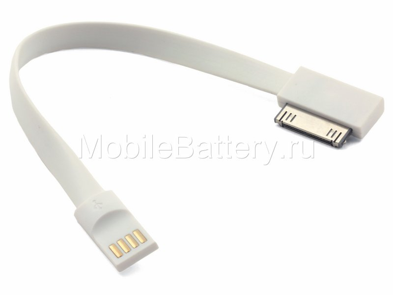 Кабель синхронизации USB - Apple 30-pin, MA591G/C (белый, 20 см)