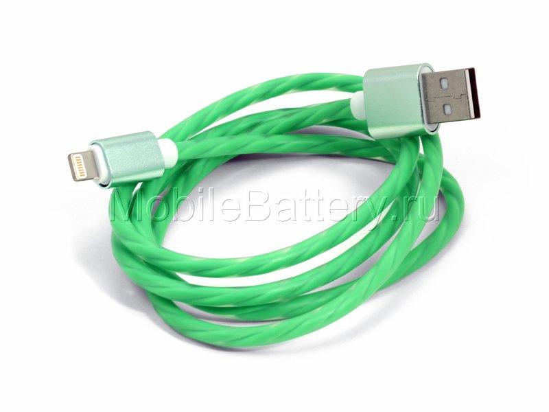 Кабель синхронизации USB - Apple Lightning (зеленый, 100 см)