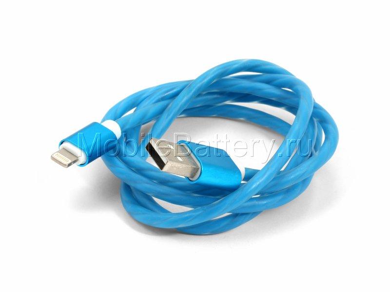 Кабель синхронизации USB - Apple Lightning (синий, 100 см)