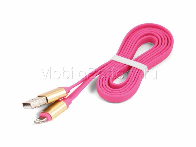 Кабель синхронизации USB - Apple Lightning (розовый, 100 см)