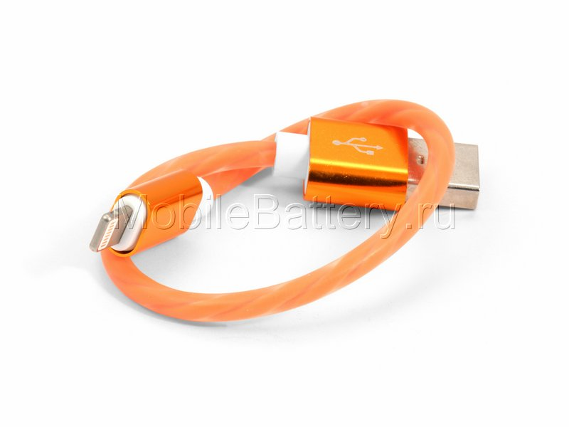 Кабель синхронизации USB - Apple Lightning (оранжевый, 20 см)