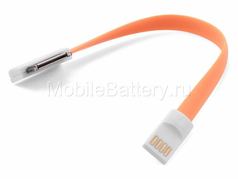 Кабель синхронизации USB - Apple MA591G/C (оранжевый, 20 см)