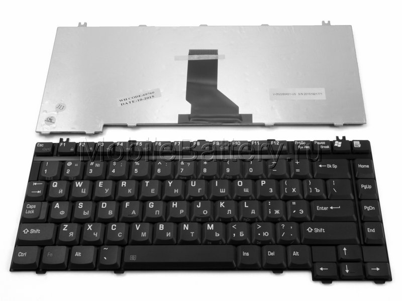 Клавиатура для ноутбука Toshiba 9J.N8382.M0R, NSK-T9A0R