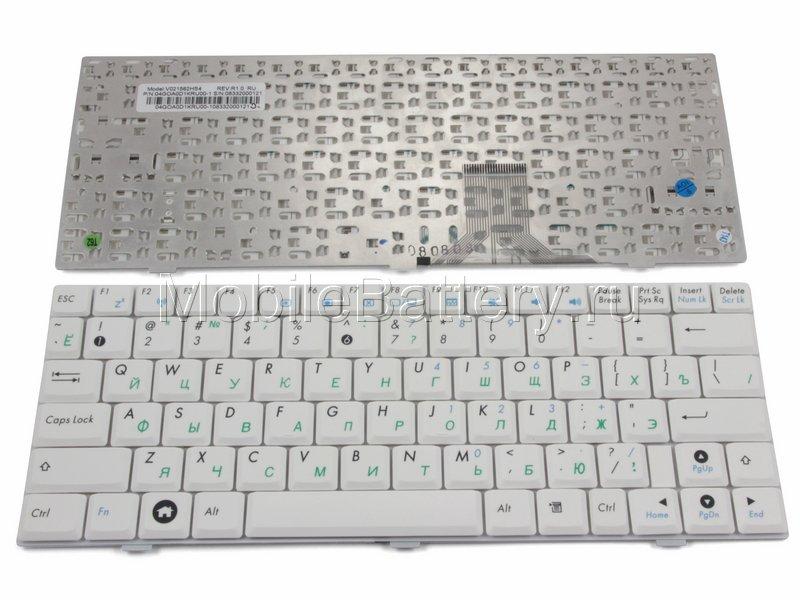 Клавиатура для ноутбука Asus 0KNA-0D3RU02, V103662AS1 (белая)